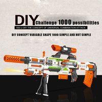 Wholesale Electric Soft Gun - The DIY electric soft gun can be assembled by 1000 ways and it shoot 25m long-range