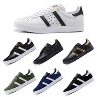 Wholesale shoes boys classic canvas - Classic Original Clover Skateboarding Shoes Boys Mens Designer Leather Nubuck Running Shoes Outdoor Trainers Casual Skate Trainers Boxed