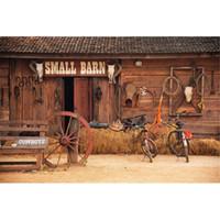 Wholesale barn doors for sale - Small Barn Wooden Door Vintage Photography Backdrop Rustic Digital Printed Haystack Bikes Cowboys Baby Newborn Studio Photo Shoot Background