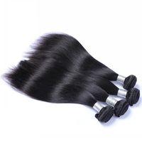 28 parça saç örgüsü toptan satış-Müşteri için özel bağlantı en iyi kalite düz İnsan saç Demetleri 28 * 2 30 * 2, toplam 4 parça saç örgüleri