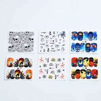 Wholesale nail art water decals halloween - Halloween Nail Stickers 48pcs Water Transfer Stickers Nail Art Decals Beautiful Diy Decor Temporary Tattoos Make Up Tools