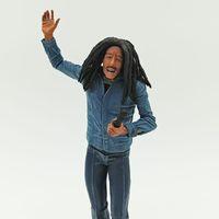 modelo de microfone venda por atacado-Bob Marley Música Legends Jamaica Cantor Microfone PVC Action Figure Collectible Toy Modelo 18 cm