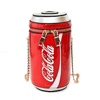 Wholesale mini cola resale online - Summer Fashion new handbags High quality PU leather Women bag Personality cola cup Sweet girl Mini Chain Shoulder Messenger Bag