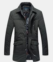casaco de pele verde marinho venda por atacado-Homens soltos de algodão casuais para baixo jaqueta Parka com gola de pele dos homens estilo longo casaco inverno grande tamanho 5XL roupas verde azul marinho K179
