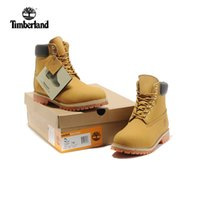 Wholesale full leather shoes for men for sale - Timberland boots Women men Designer Sports thick cotton athletic shoes for woolen Sneakers brown ankle boots yellow black red