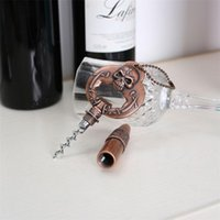 Wholesale Vintage Wine Bottles - Vintage Skull Beer Bottle Opener Kitchen Cook Tools Metal Wine Corkscrew Portable High Quality 16lj C R