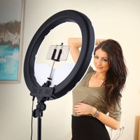 Wholesale camera phone photography - Camera Photo Studio Phone Video 55W 240PCS LED Ring Light 5500K Photography Dimmable Makeup Ring Lamp With 200CM Tripod
