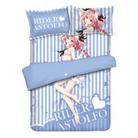 ingrosso cuscino di ordine-Fate Stay Night / Fate Grand Order Anime LETTO SET Soft rider astolfo Set biancheria da letto stampata con federa Lenzuolo Copripiumino