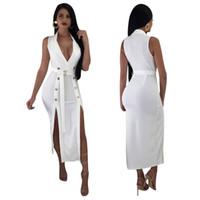 ca1ec8172b mejores vestidos blancos elegantes al por mayor-Vestidos de noche elegantes  blancos con fajín Sexy