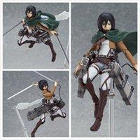 ingrosso figure d'azione di titan attacco-Azione Anime Attack On Titan Eren Mikasa Ackerman Levi / Rivaille Figma Action Figure Toy Model in PVC