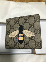 Wholesale Polyester Pillows - 2018 Hot brand men GG short Wallet New classic fashion male patchwork purse with coin pocket card holder with gift box
