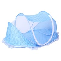 Wholesale Foldable Baby Mosquito Net Tent - Summer Foldable Baby Infant Bed Canopy Mosquito Net with Cotton-padded Mattress Pillow Tent for 0-2 Years Old Baby Children