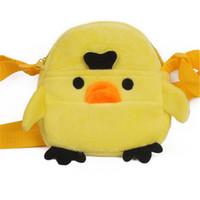 ingrosso i bambini gialli del messaggero-Zshop Little Yellow Chicken Sling Bag per bambini Cartoon Cute Soft Messenger Bag da 1 a 3 anni