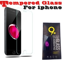 Wholesale Note Screen Protection - For iPhone X 8 7 6 6S Screen Protector Film Tempered Glass for iPhone 6S Plus Samsung S6 S7 Note 5 screen clear film protection with 9H