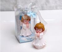 kerzen baby souvenir großhandel-Hochzeit Gefälligkeiten und Geschenke für Gäste Baby Shower Birthday Party Angel Kerzen für Kuchen Souvenirs Dekorationen Zubehör