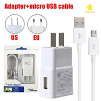 Wholesale cable adapter eu for sale - Wall Charger Adapter Fast Charging Travel Wall Charger M Micro USB Data Cable for Samsung Galaxy S6 Edge Plus with Retail Package