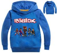 ingrosso hoodies dei costumi da ragazzi-Roblox Hoodies Shirt For Boys Felpa Red Noze Day Costume bambini Sport Shirt Maglione per bambini manica lunga T-shirt Top