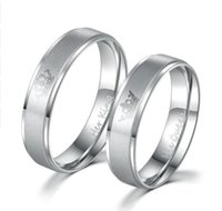 Wholesale stainless steel wedding rings sets - King and Queen Stainless Steel Ring - His and Hers Couple Wedding Band Set Anniversary Engagement Promise Ring