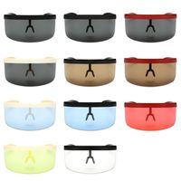Wholesale sun hood - Anti UV Sun Shield Visor For Men And Women Flat Top Hood Cycling Wind Proof Sunglasses Color Mix 15am B