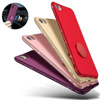 Wholesale apple diamond ring for sale - Group buy Matte Glitter Diamond TPU Case Magnetic Car Mount Ring Holder For iPhone XS Max XR X Samsung S8 S9 Plus Note A6 A8 J5 J7 Prime