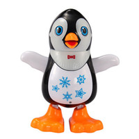 Wholesale lead elephant toy - Original Electric Dancing Penguin Flashing LED Light Kids Children Developmental Music Toy Christmas Gift