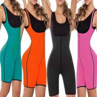 Wholesale full body shaper plus size - Slimming Shaper Bodysuit Sauna Suit 5 Colors Burn Fat Shapewear Full Body Shaper Postpartum Recovery Underwear Shapewear Corset AAA97