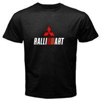 Wholesale car ralliart online - Mitsubishi Ralliart EVO Car Rally AWD Black T Shirt Men or Women Distro