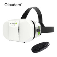 Wholesale polarizing glasses 3d resale online - VR Glasses Virtual Reality D Headset Google Cardboard VR BOX Glass with Bluetooth controller for Smartphone VR219