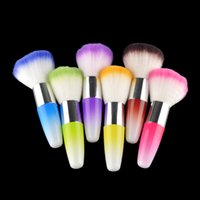 Wholesale flock powder - Dust Powder Brushes Flocking Remover Cleaner Concealer Foundation Makeup Cosmetic Brushes Manicure Pedicure Tool Nail Art Nail Brush 2805015