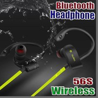 Wholesale 56S Wireless Bluetooth Earphones Waterproof IPX5 Headphone Sport Running Headset Stereo Bass Earbuds Handsfree With Mic