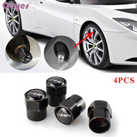 Wholesale Toyota Camry Badges - Car accessories tire valves for Toyota c-hr Badges rav4 corolla avensis camry auris prius yariswheel tyre stem air caps car styling 4pcs lot