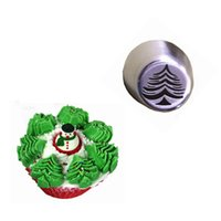 Wholesale Christmas Tree Specials - Icing Piping Tips 2PCS Christmas Tree Special Russian Leaf Nozzle Bakeware Cupcake Cake Decorating Pastry Baking Tools