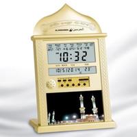 ingrosso orologi da parete musulmano-Orologio di preghiera azan musulmano tutte le preghiere Full Azans 1150 città Orologio di Azaz Muro islamico