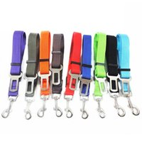 Wholesale pet hound - 10 Colors Dog Car Safety Seat Belt Harness Adjustable Pet Puppy Pup Hound Vehicle Dog Seatbelt Dog Collars Lead Leashes for Dogs T2I209