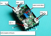 Wholesale Laser Blue Ttl - 5A 12VDC Power Supply Driver for 445nm 450nm 3.5w NDB7A75 Blue Laser LD with TTL