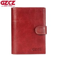 Wholesale vintage clamps for sale - Group buy GZCZ Genuine Leather Wallet Female Coin Purse Women Wallets Zipper Clamp For Money Clutch small Walet Women Card Holder Ladies