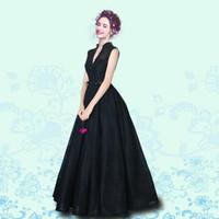 siyah boncuklu korse balo elbiseleri toptan satış-2018 Romantizm Yüksek Boyun Siyah Abiye Boncuklu Dantel Kanat Korse Örgün Törenlerinde Uzun Güney Afrika Balo Elbise Ünlü Törenlerinde Ucuz