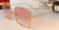 Wholesale brand catwalk - New fashion brand designer sunglasses MJ 120 metal square retro twist frame simple popular leisure summer style eye protection catwalk model