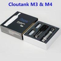 vaporizador cloutank m3 kit al por mayor-Cloupor Cloutank M3 y Cloutank M4 atomizador de alta calidad Cloutank M3 M4 Dry Herb Wax 2en1 Kit de vaporizador con bobinas de repuesto E Cigarettes