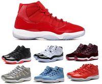 kidding roter samt großhandel-Kinder Schuhe 11 Basketball Schuhe Gym Red Win wie 96 Turnschuhe 82 GS Bred Space Jam Heiss Samt Chicago Concord 11s Sportschuh