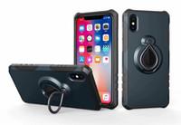 iphone raindrops оптовых-Для iphone XR XS MAX Raindrop гибридный двухслойный броня защитник чехол 2 в 1 магнитный для iphone XR Кольцо держатель крышки