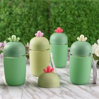 Wholesale Country Lovely - Creative Cacti Glass Cup Lovely Antlers Water Bottles Portable Children Gifts Multi Color New 5 3zw C R