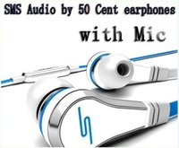 Wholesale Sms Streets - 100pcs DHL wholesale Mini SMS Audio by 50 Cent In-Ear earphones with Mic microphone 50Cent Street headphones Black White red With retail Box