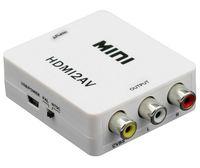 hdmi av konverter box großhandel-Qualität 1 PCS HDMI zu AV Adapter HDMI2AV Standard HDMI Schnittstelle Mini HD Video Konverter Box HD zu AV / CVSB Video NTSC PAL Ausgang 1080P