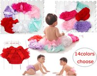 Wholesale ruffled bloomers - Lovely Baby Ruffles Chiffon Bloomer Tutu Infant Toddler Cotton Silk Bow Skirt Shorts Kids Layers Skirt Diaper Cover Underwear PP Shorts