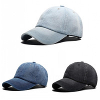 Wholesale Good Quality Adjustable Snapback Caps Summer Travel Sun Shading Hat Denim Baseball Cap For Easy To Use ps dd