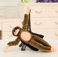 Wholesale flying monkey toy for sale - Group buy Soft Cute plush Slingshot Screaming Sound Plush Flying Monkey Toy Fantastic Favorite Funny Flying Monkey Screaming toy