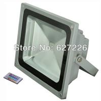 Wholesale 68 Led - RGB led floodlight 48w rgb led flood light lamp Water-proof IP 68 streep lamp 24key IR controller