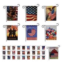 sindicato de vendas venda por atacado-Hot New The Union Flag Série Bandeira Americana Padrão Dupla Face Impressão Jardim Bandeiras Decoração Venda Direta Da Fábrica Ao Ar Livre Bandeiras T7I253