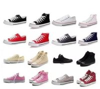 Wholesale big court - 2018 Casual Shoes Star Flat Canvas Shoes High Low Top Men Women Designer Sneakers Big Size High Quality Free Shipping
